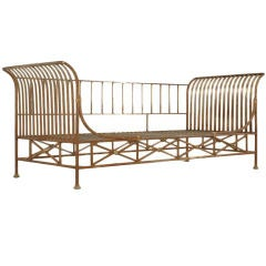 Vintage French Steel Directoire Style Sofa/Daybed Frame (1 of 2)