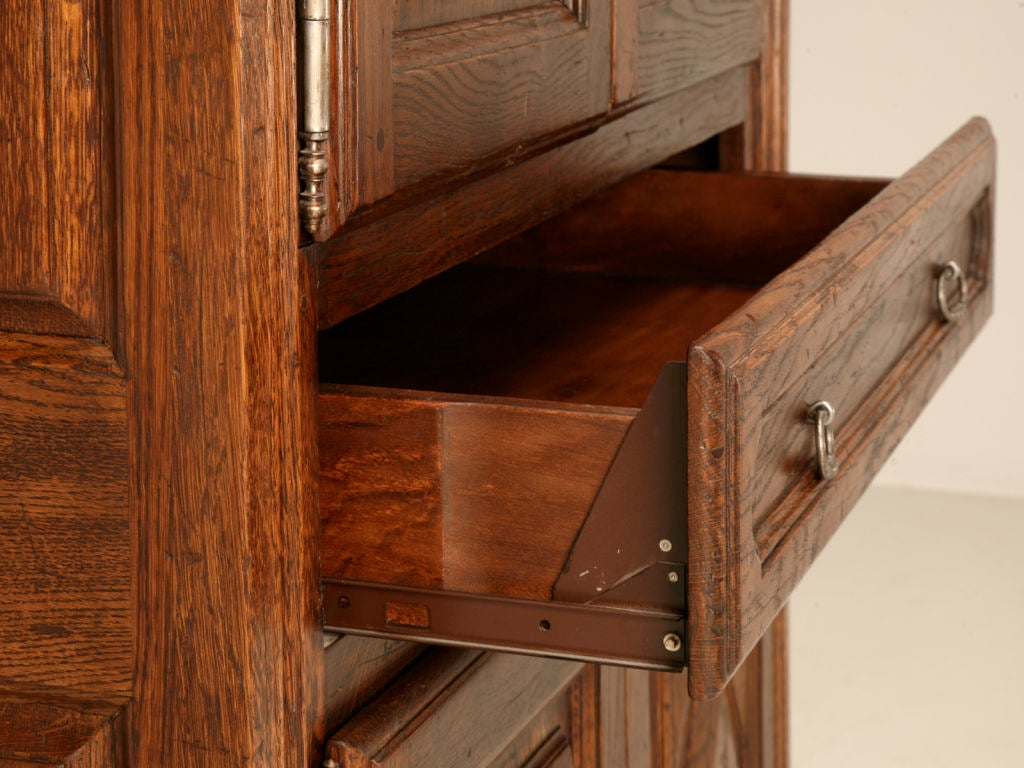Lastest  French Solid Oak Louis XIII Style TV Or Computer Armoire At 1stdibs