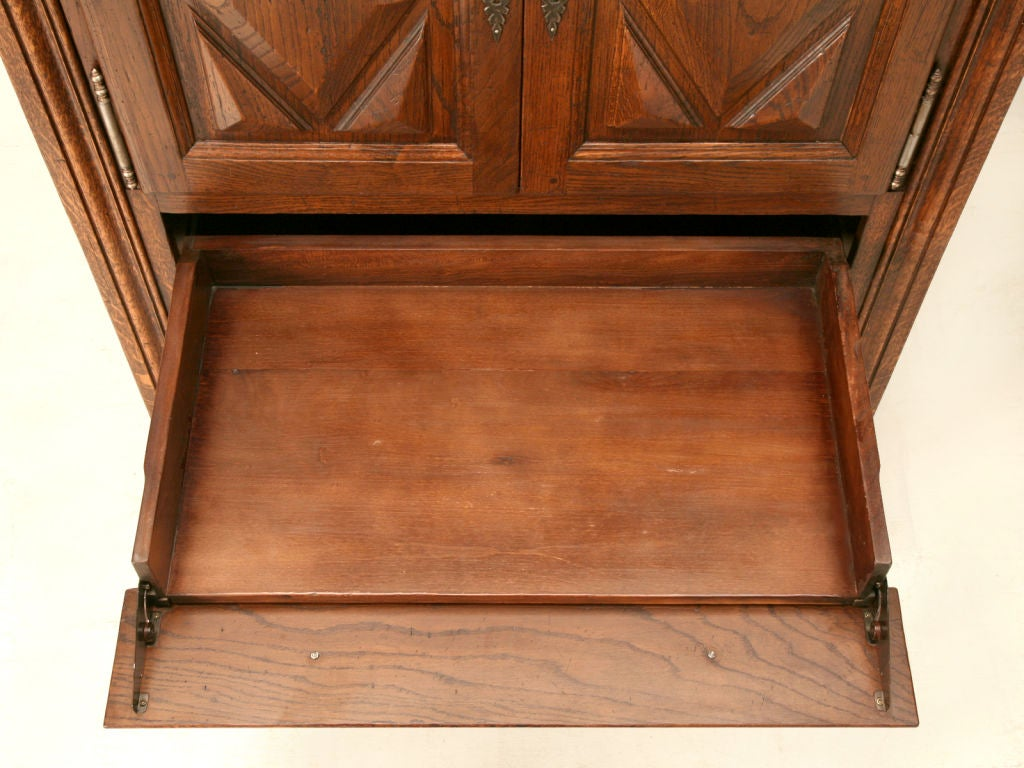 Original  Furniture Seville Square Computer Armoire In Warm Oak 433107