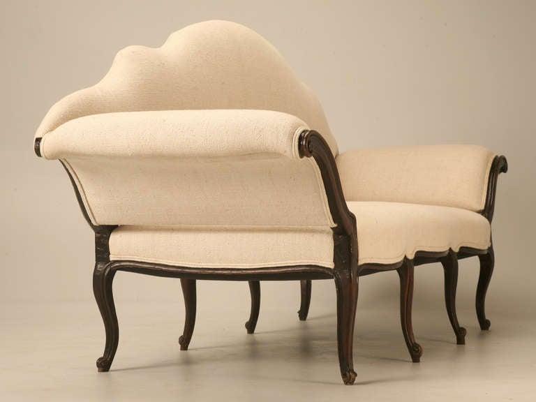 Restored 18th Century Italian Venetian Carved Walnut Sofa 5