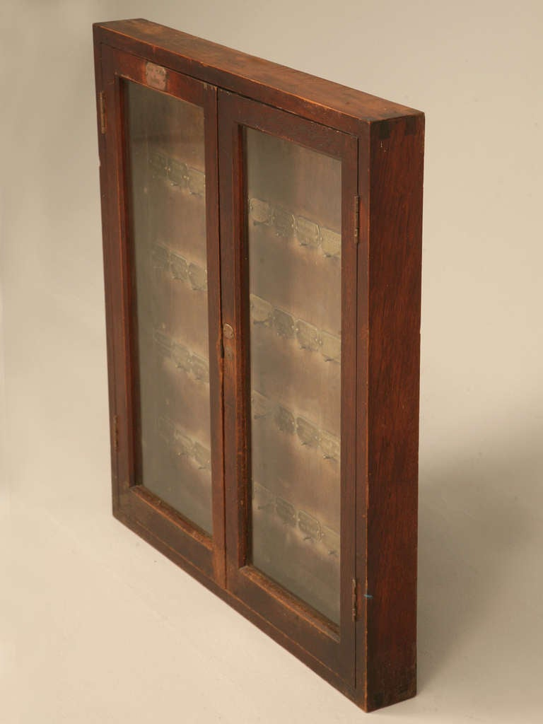 Original glazed antique english mahogany main works and for Cupboard or cabinet