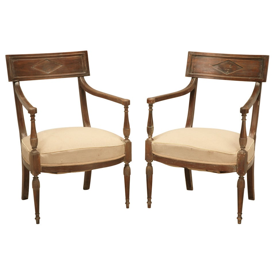 French Directoire Style Armchairs