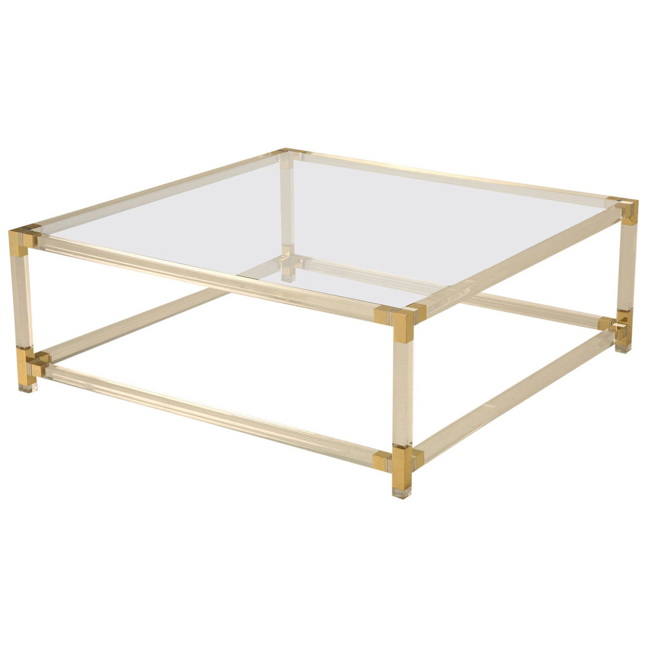Acrylic Mid Century Modern French Coffee Table At 1stdibs
