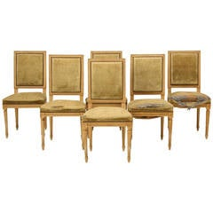 Louis XVI Syle French Painted Side Chairs
