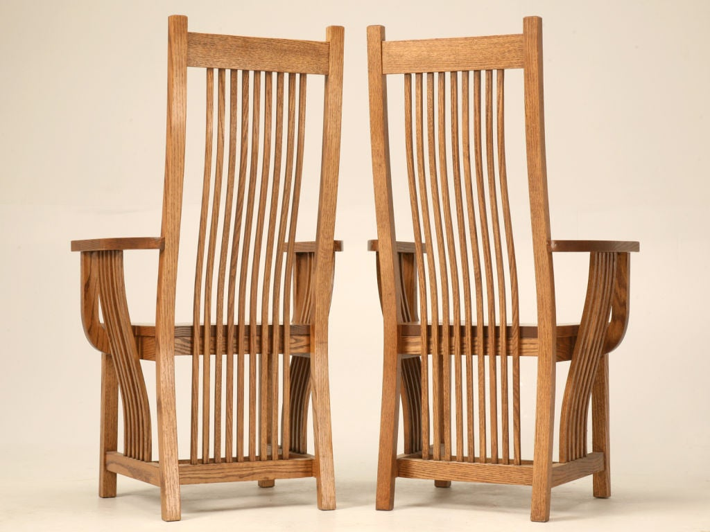 Set of 4 Vintage Oak Mission Style Dining Chairs at 1stdibs : 824313021120453 from www.1stdibs.com size 1024 x 768 jpeg 107kB