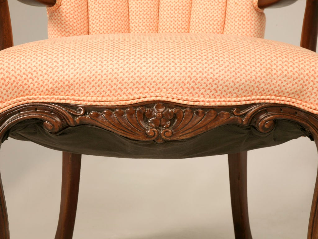single vintage french fauteuil w art nouveau influenced arms at 1stdibs. Black Bedroom Furniture Sets. Home Design Ideas