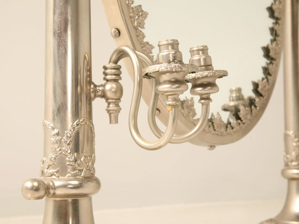 Dressing Table Lights : ... English Hallmarked Dressing Table Mirror w/Side Lights at 1stdibs
