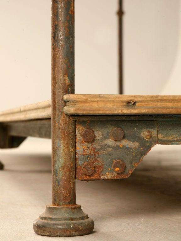Original Antique Italian Industrial Bakers Work Table Or