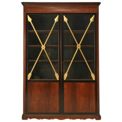 Antique French Directoire Glazed Cabinet with Crossed Gilt Arrows