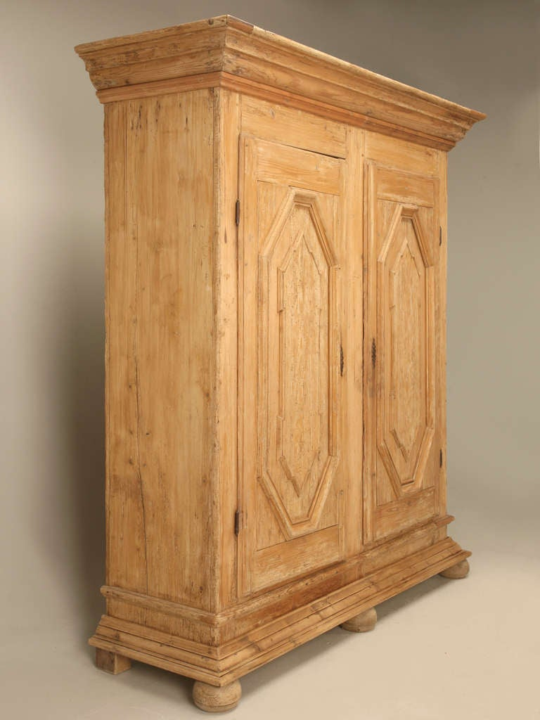 Amazing Original 18th Century Austrian Baroque Period Pine Schrank ...