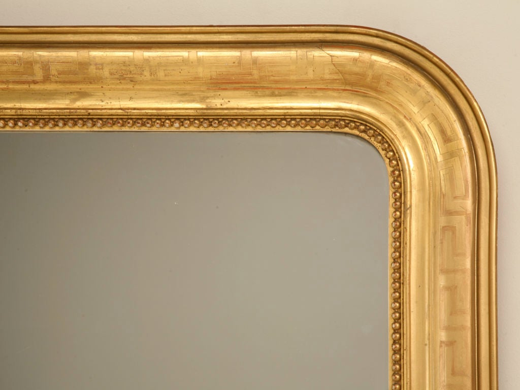 Large Antique French Louis Philippe Mirror w/Original Gilding image 4