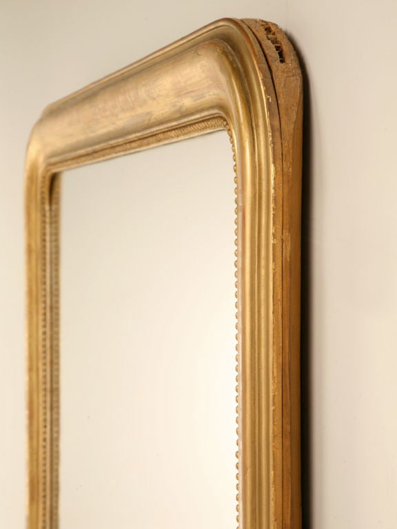 Large Antique French Louis Philippe Mirror w/Original Gilding image 5