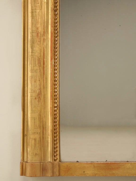 Large Antique French Louis Philippe Mirror w/Original Gilding image 9
