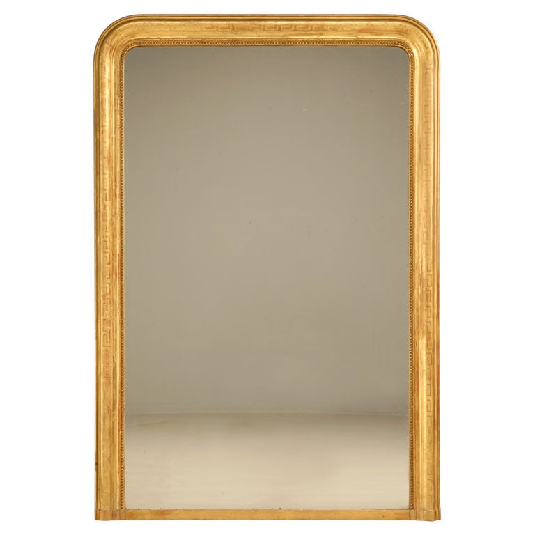 Large Antique French Louis Philippe Mirror w/Original Gilding