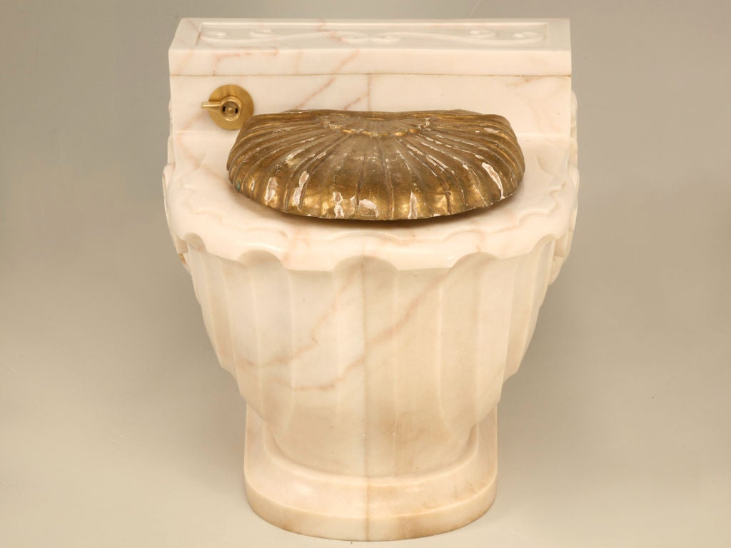 Vintage Sherle Wagner Luxury Carved Marble Toilet Cover (1 of 3) 6