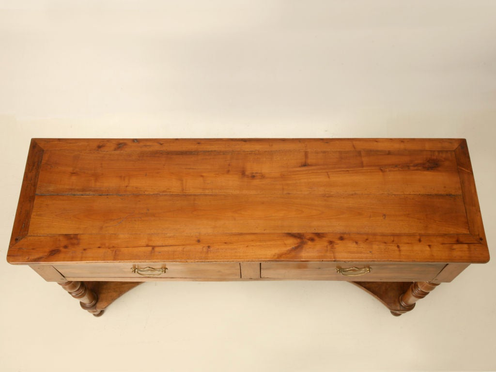 Amazing photo of Vintage French Cherry Wood 2 Drawer Sofa/Console Table w/Shelf image 2 with #AD521F color and 1024x768 pixels