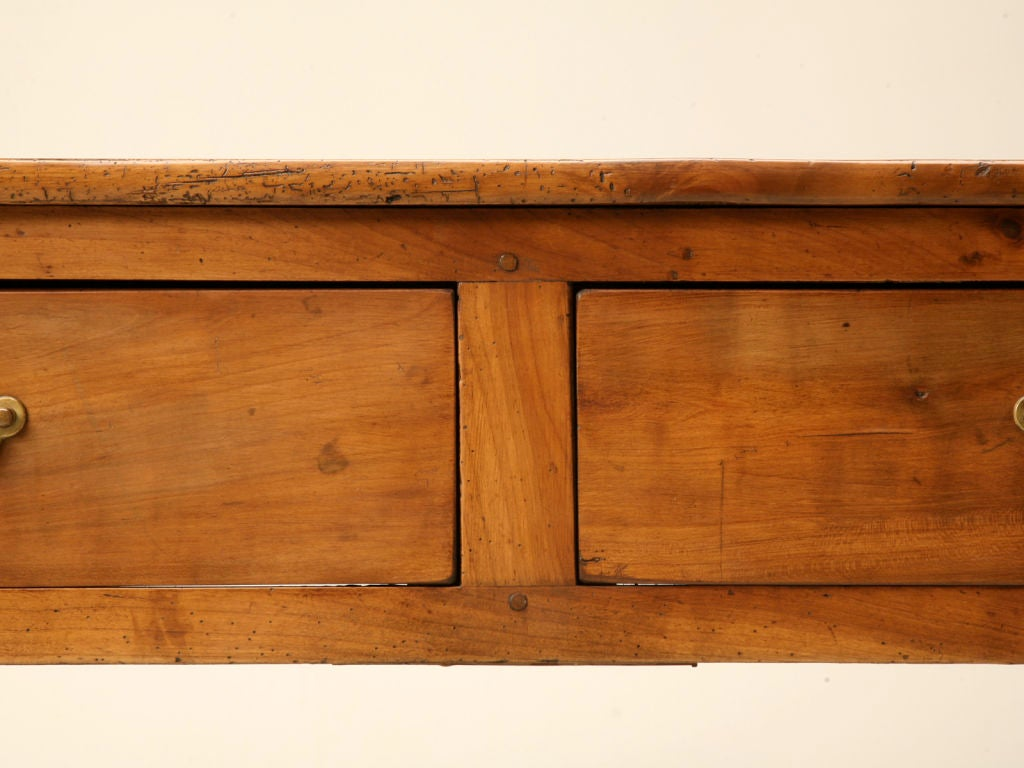 Amazing photo of Vintage French Cherry Wood 2 Drawer Sofa/Console Table w/Shelf image 6 with #BD720E color and 1024x768 pixels