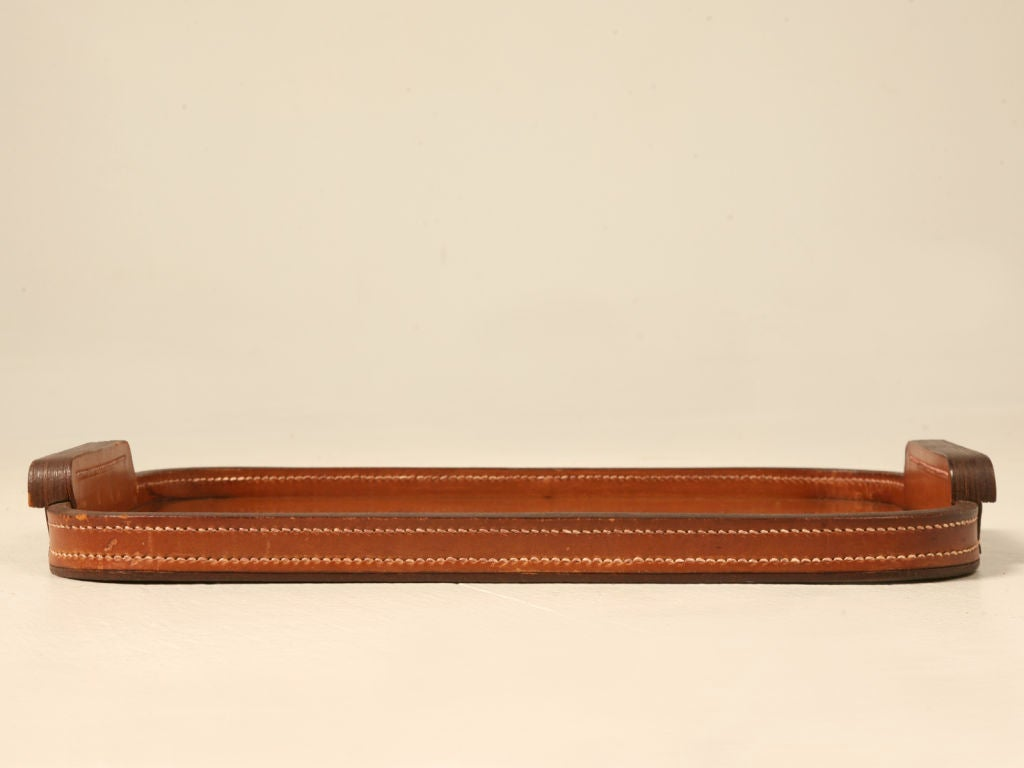 "price kelly bag hermes - Breathtaking Vintage French ""Hermes"" Stitched Leather Tray at 1stdibs"