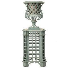 Antique French Exhibition Urn on Pedestal