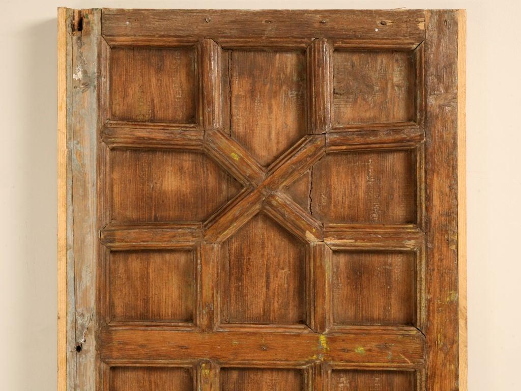 Antique Indonesian Hardwood 4 Panel Door Table Top Or At