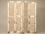 Stunning Original Paint Antique French 4 Panel Shutter Screen thumbnail 7