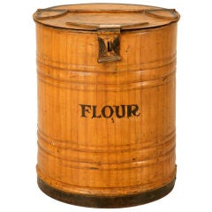 "Faux Grained Antique English Bakery or Mecantile ""Flour"" Bin"
