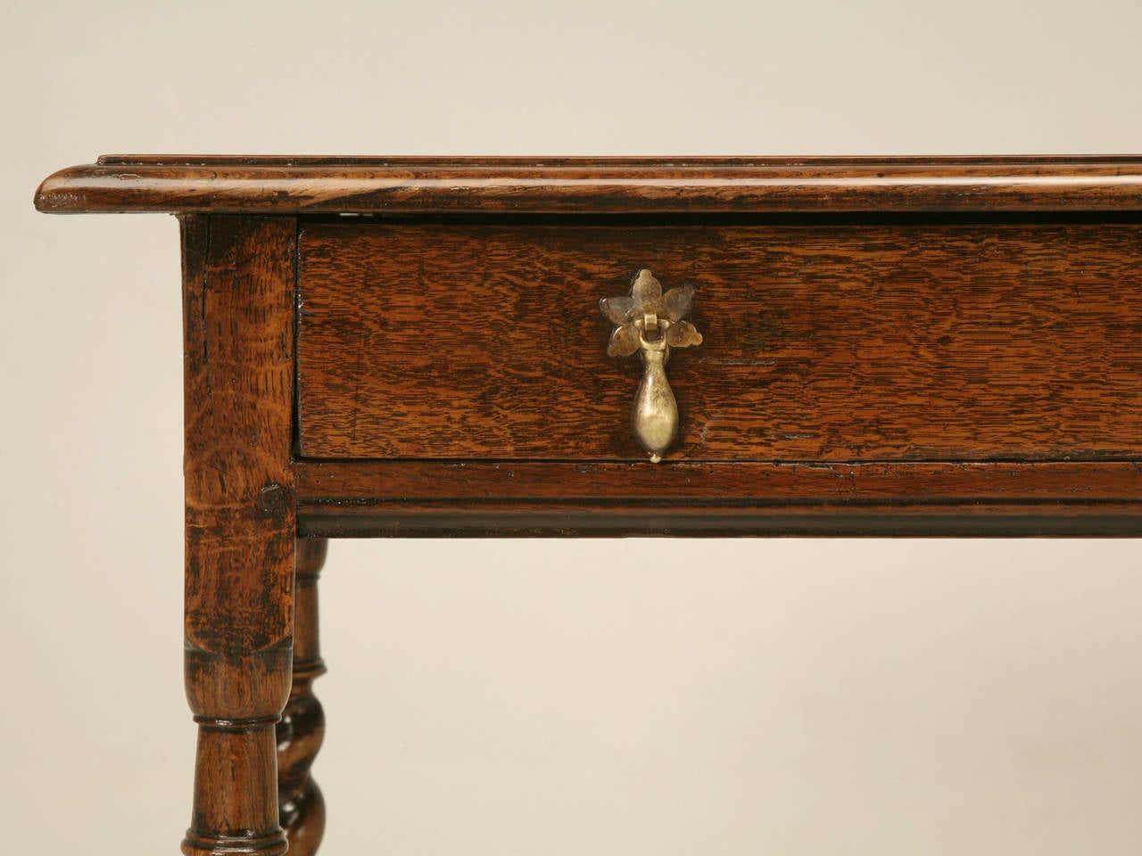 English Country Style Writing Desk or End Table, circa 1700s For Sale 4