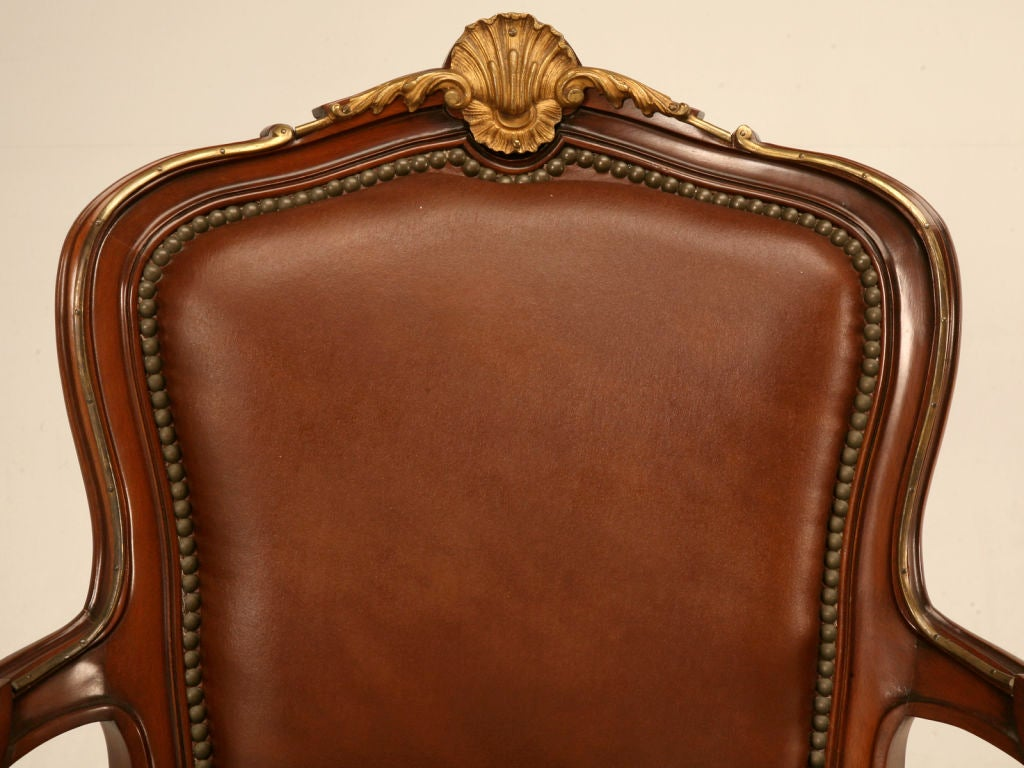 single vintage french louis xv style fauteuil with ormolu. Black Bedroom Furniture Sets. Home Design Ideas