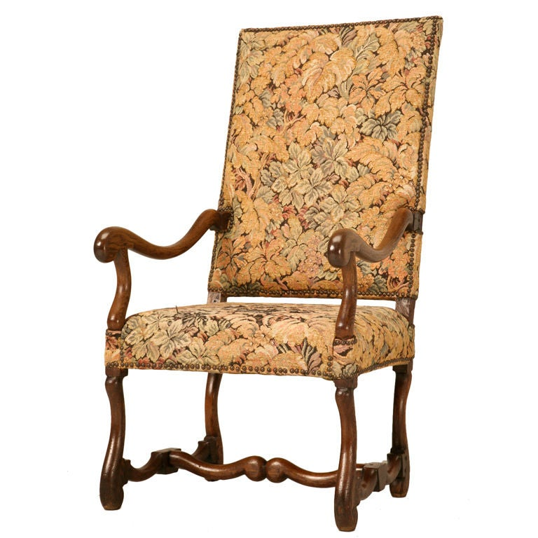 Antique French Os de Mouton Solid Oak Throne Chair 1 - Antique French Os De Mouton Solid Oak Throne Chair For Sale At 1stdibs