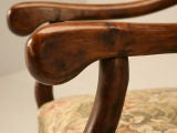 Gorgeous Pair of Vintage French Os de Mouton Throne Chairs image 4