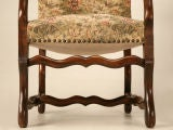 Gorgeous Pair of Vintage French Os de Mouton Throne Chairs image 6