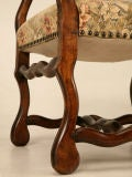 Gorgeous Pair of Vintage French Os de Mouton Throne Chairs image 7