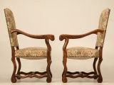 Gorgeous Pair of Vintage French Os de Mouton Throne Chairs image 9