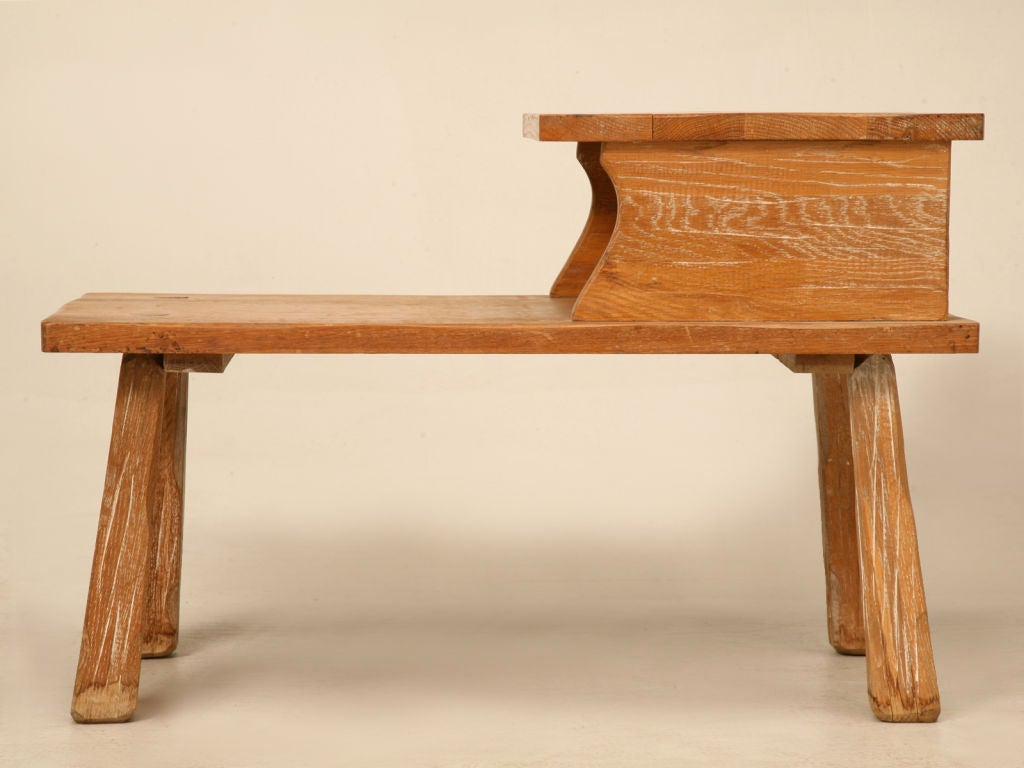 Very Impressive portraiture of  American Cowboy Ranch Oak Step Table by A. Brandt at 1stdibs with #AD521E color and 1024x768 pixels