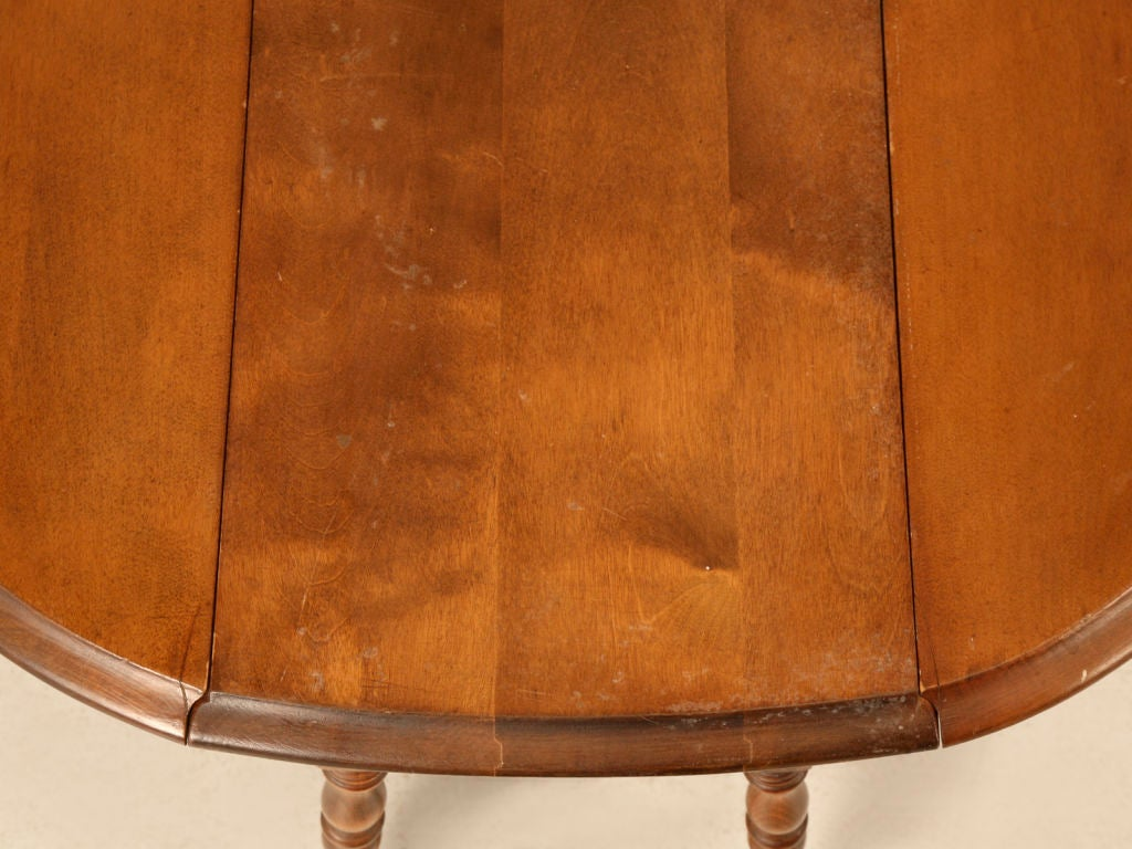 Petite Vintage Oak Drop Leaf Side/End Table At 1stdibs. Full resolution  photograph, nominally Width 1024 Height 768 pixels, photograph with #AE5218.
