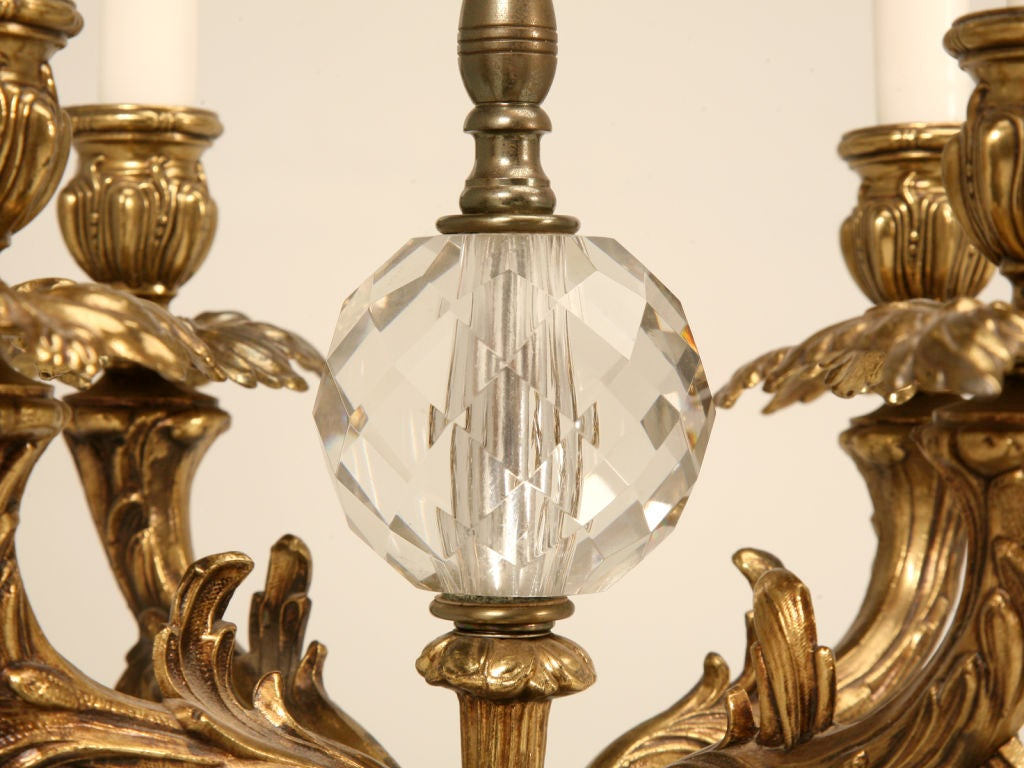 stunning vintage italian marble crystal and bronze table lamp at. Black Bedroom Furniture Sets. Home Design Ideas