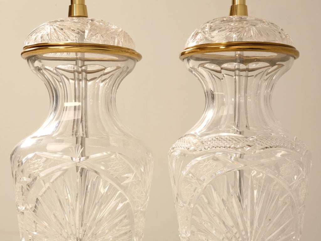 pair of vintage cut crystal urn form table lamps not exact image 4. Black Bedroom Furniture Sets. Home Design Ideas