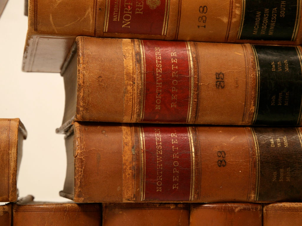 set of 28 antique american leather bound law books set only at 1stdibs