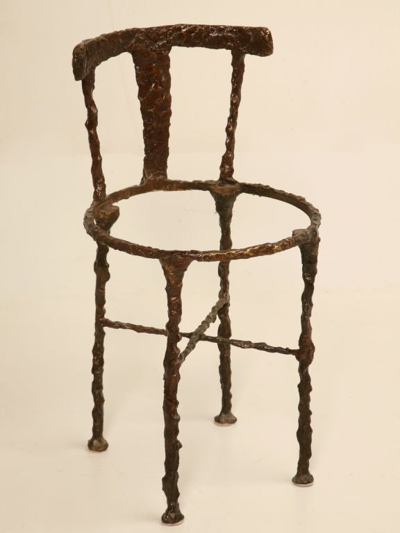 Vintage Solid Bronze Giacometti Inspired Chair at 1stdibs : 824313179213152 from 1stdibs.com size 576 x 768 jpeg 35kB