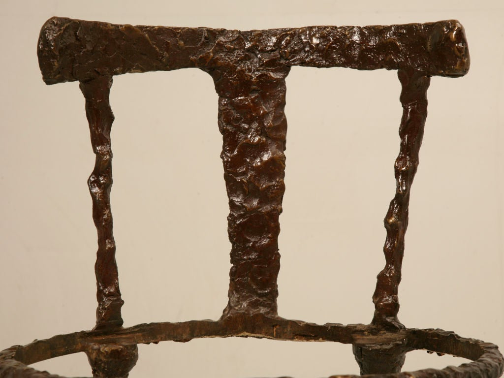 Vintage Solid Bronze Giacometti Inspired Chair At 1stdibs