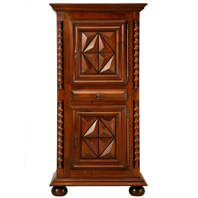french louis xiii style bonnetiere or small armoire at 1stdibs. Black Bedroom Furniture Sets. Home Design Ideas