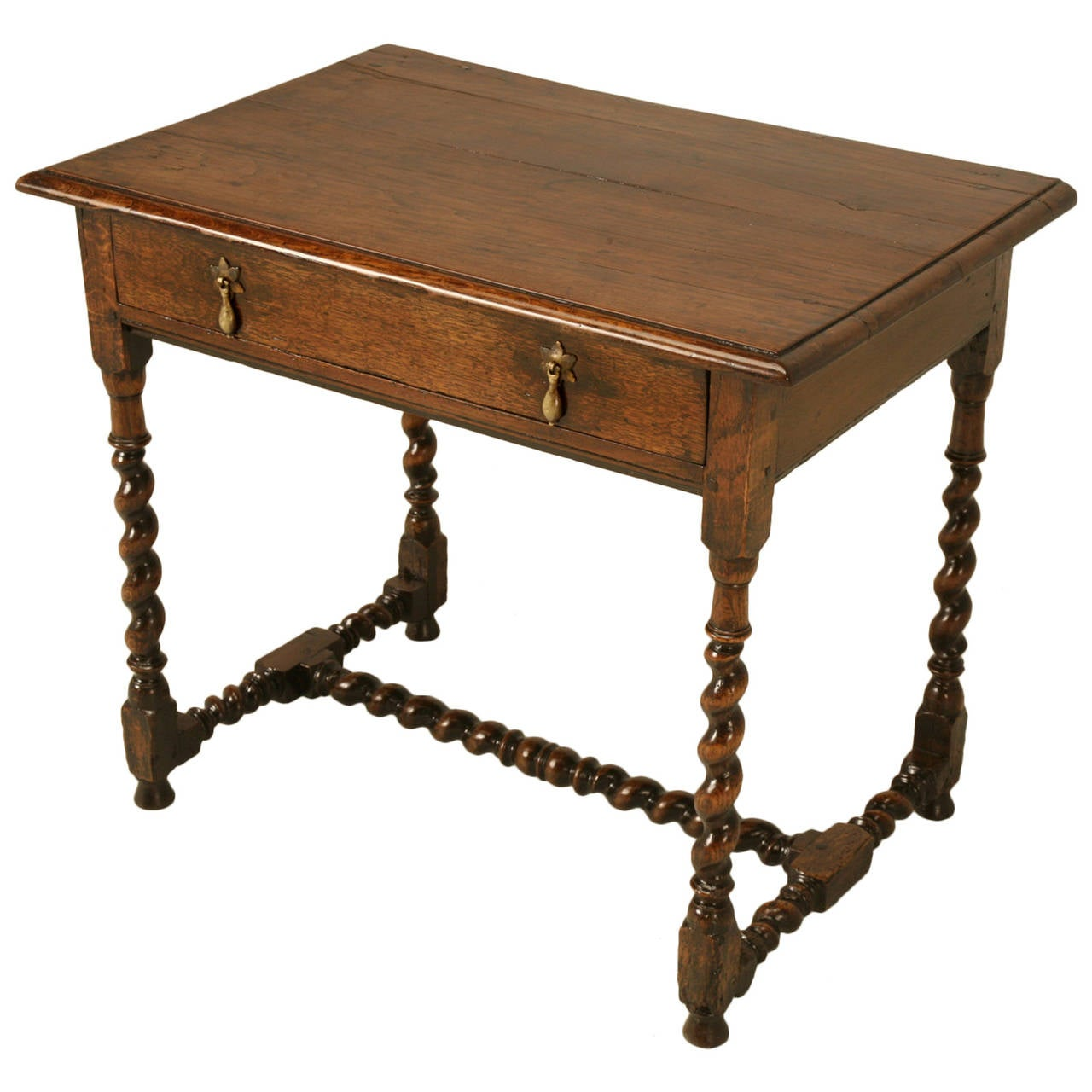 English Country Style Writing Desk Or End Table, Circa 1700s For Sale