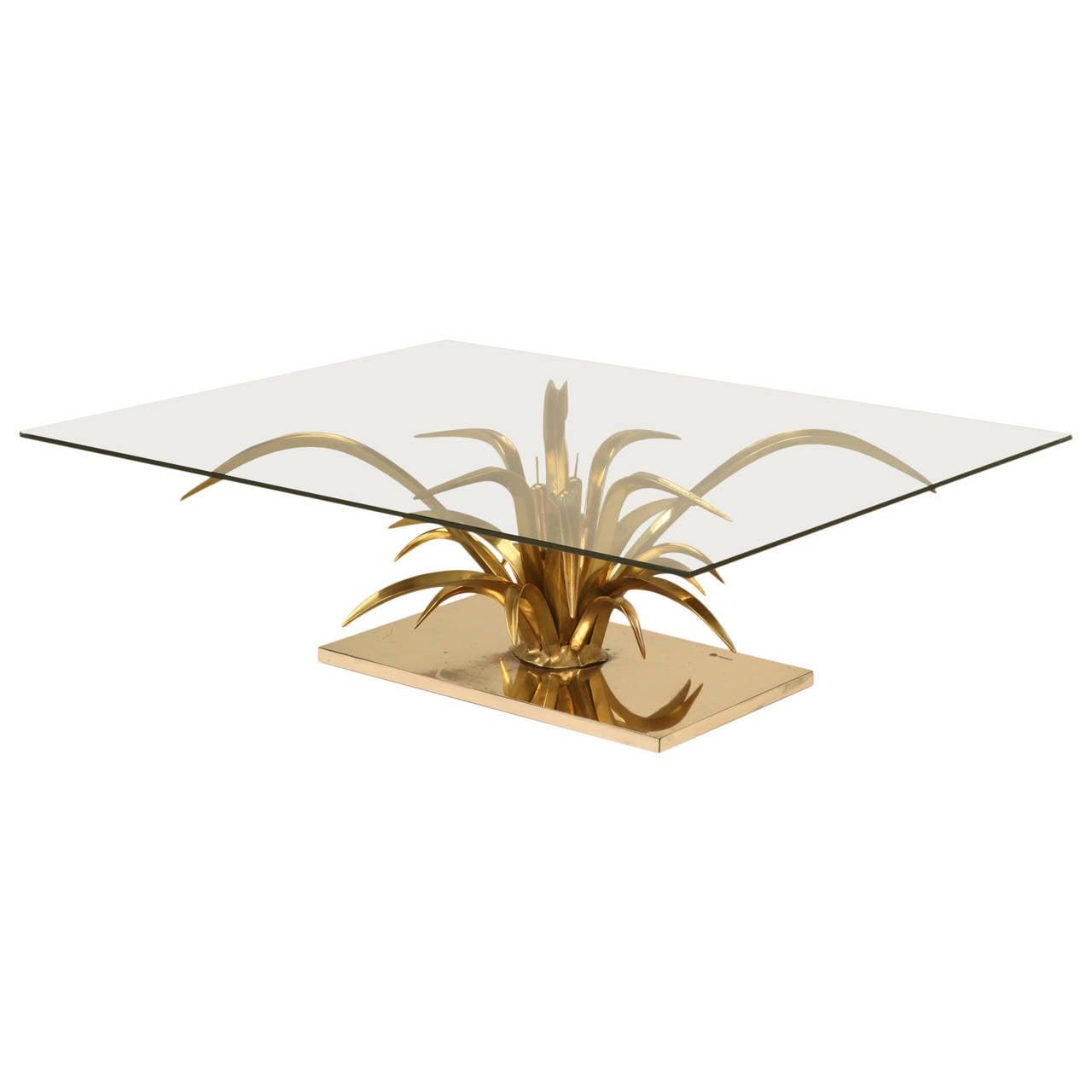 Mid-Century Modern Doré Bronze Coffee Table