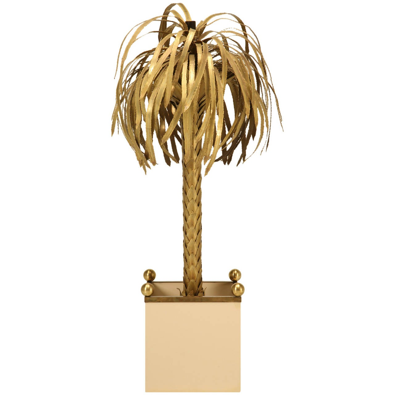 palm tree floor lamp attributed to maison jansen circa 1970 at. Black Bedroom Furniture Sets. Home Design Ideas