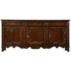 Exquisite Antique French Louis XV Oak 3 over 3 Buffet