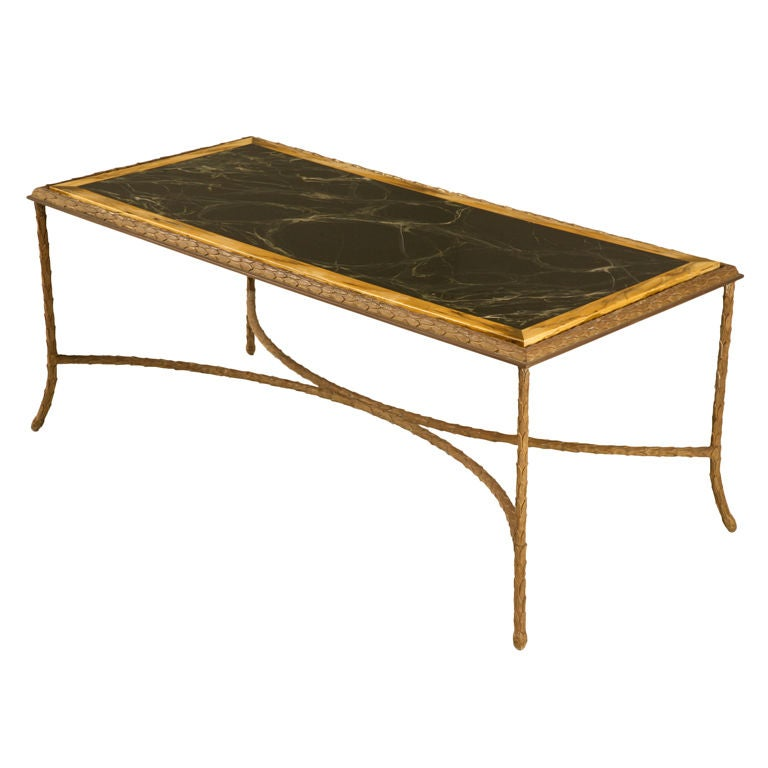 Exquisite Vintage French Bronze Coffee Table By Bagues At 1stdibs