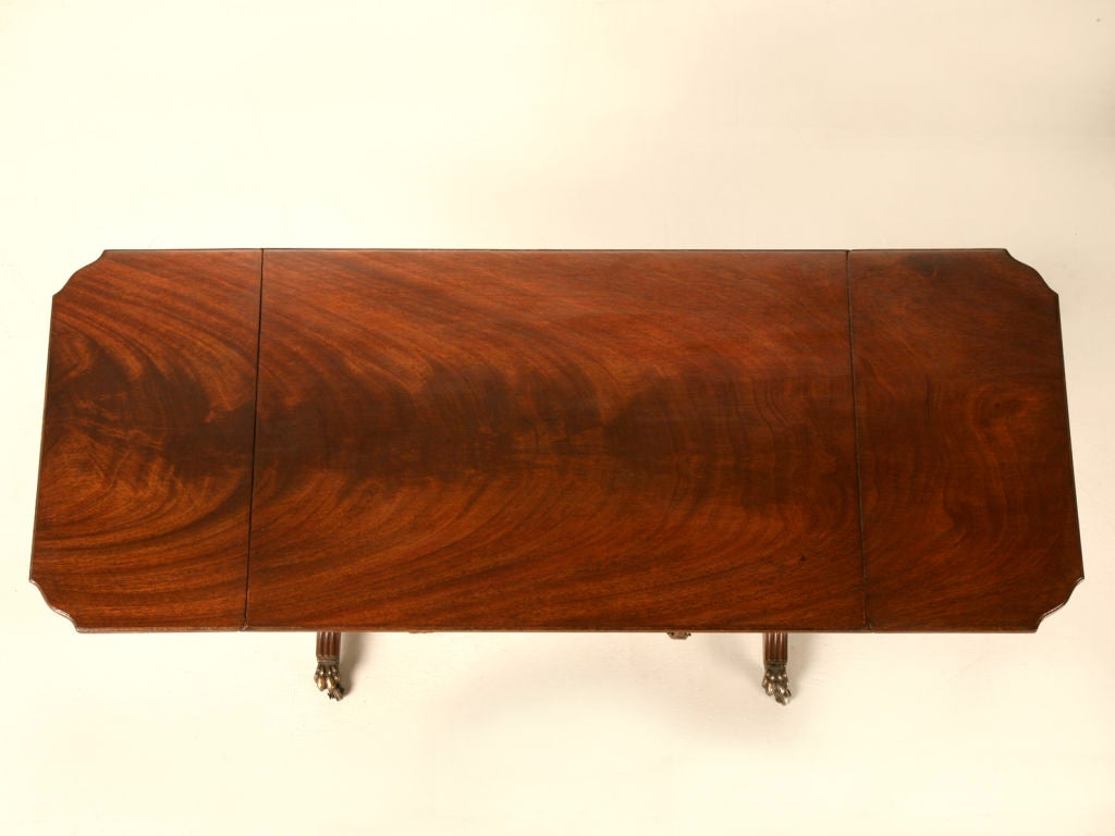 Petite Vintage English Mahogany Drop Leaf Coffee Table W Drawers At 1stdibs