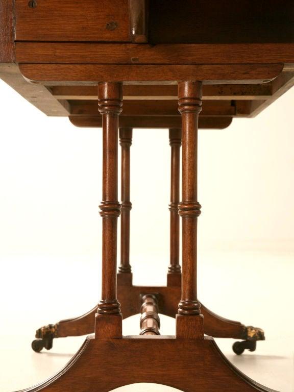Petite Vintage English Mahogany Drop Leaf Coffee Table W