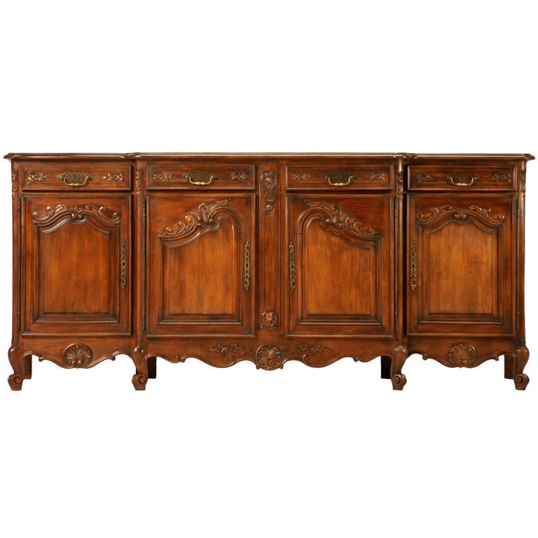 Magnificent Vintage French Louis XV Cherry-wood 4 over 4 Buffet