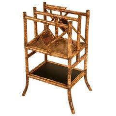 Antique English Bamboo Canterbury/Magazine Stand